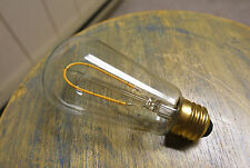 LED Edison Bulb ST18, Curved Vintage Hairpin Filament, 2 watt (25w), Dimmable