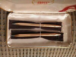 Cross 0.9 Pencil &Pen set 1/20 14k Gold Filled (USED).