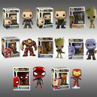 DC Marvel Avengers Iron Man/Groot/Batman Figure Funko POP Key Ring Keychain