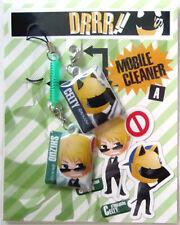 Durarara!! Screen Wiper Phone Strap Set Celty, Shizuo Licensed NEW