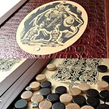Viking Travel Luxury Backgammon Set Leather Pieces Tournament Board Game Нарды