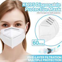 [60 PCS] KN95 Protective Face Mask FFP2 95% PM2.5 Disposable Respirator Cover