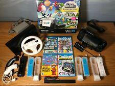 Wii U 32 GB Deluxe Black + 5 Games + 4 MotionPlus Remotes + 2 Nunchucks + More