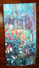 Long silk twill scarf Print of Renoir's Flower Garden  Multicoloured  NEW