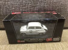 FIAT ABARTH 850TC WHITE 1962 NURBURGRING 500KM ENTRY 1:43 BRUMM MODEL * BOXED *