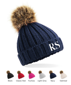 Personalised Initials Children's Beanie Hat Winter Hat Boys Girls Toddler