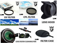 FP6u UV / CPL Filter + Lens Hood + Case + Pen for Panasonic DMC FZ40 DMC FZ45