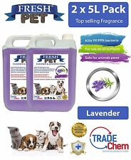 2 x 5L FRESH PET URINE SMELL ODOUR REMOVER  - LAVENDER Fragrance TRADE Chem