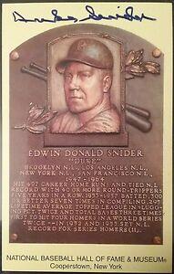 DUKE SNIDER Autograph PSA Hall of Fame Plaque ~DODGERS 🔥🔥🔥