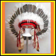 Genuine Native American Navajo Indian headdress 36 inch SPIRIT EAGLE coyote tail