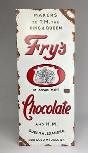 REPRODUCTION ANTIQUE ENAMEL SHOP SIGN – FRY's CHOCOLATE