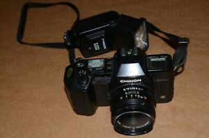 Chinon CP-7m 35mm SLR film camera w/Chinon 50mm f1.9 Lens