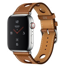 Apple Watch Series 4 Hermès 44 mm Stainless Steel Case with Fauve Grained Barenia Leather Single Tour Rallye (GPS + Cellular) - (MU9D2LL/A)