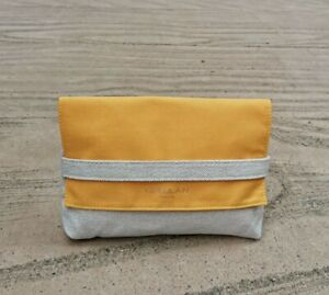 Guerlain Yellow & Beige Makeup Cosmetic Bag / Pouch / Case, Brand NEW!!
