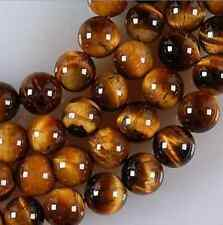 "15"" Natural Grade 6mm African Roar Tiger Eye Stone Round Loose Beads strand"