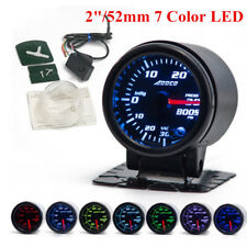 "2""/52mm 7 Color LED Car PSI Turbo Boost Gauge Meter Smoke Lens Pointer Universal"