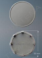 Borchia coprimozzo grigio Ø 50 mm innesto 47 non originale x cerchi lega