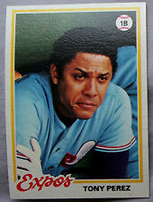 1978 Topps Tony Perez Montreal Expos #15 Baseball Card Lot of 2 Cards nm-mt
