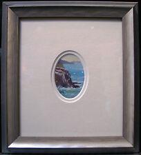 Leonard Long Australian original miniature oil titled 'Beecroft Heads NSW'.