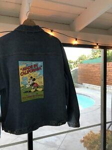 Vtg Disney Exclusive Cast Member 2002 Walt Disney Art Denim Jacket Large