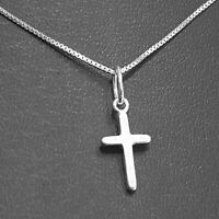 Small Rounded Cross Sterling Silver for Children Babies options -chain - giftbox