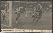 Football Autograph John Kaye Signed Newspaper Picture & Bio Sheet F496