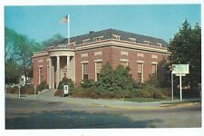 Postcard U. S. Post Office Erected 1931 American Flag Vpc7.