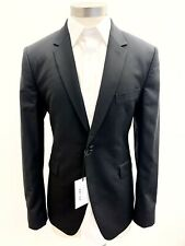 NWT PAUL SMITH GENTS WOOL/MOHAIR KENSINGTON FIT SUIT JACKET JET BLACK — 40R