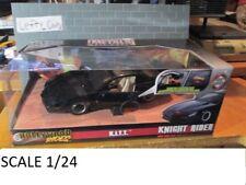 HOLLYWOOD RIDER K.I.T.T Black Knight Rider Car SCALE 1/24 - NEW!