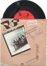 "Punk ANGELIC UPSTARTS 7"" Never Say Die SIGNED ! Factory Sampler  UNPLAYED"