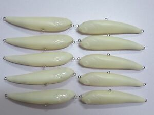 10pcs Unpainted Crank bait Fishing Lure Body 4 1/3 Inch 1/2 OZ Blank lures 8135