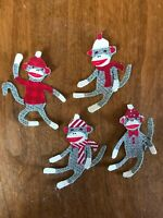 Sock Monkey - 4 - Iron-On Fabric Appliques....Small.
