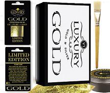Gold Leaf Kit 20 -  24K Gold Colour Sheets 15ml Adhesive and Brush. Gilding, Art