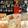 Korean White Pearls Hoop Earrings Women Oversize Pearl Circle Charm Jewelry