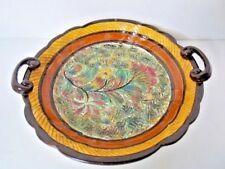 Vintage Shorter England Pottery Ceramic Handled Bowl Platter 324 Autumn Colors