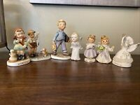 Vintage Angel And Children Figurine Lot- Misfits- Flawed- Lot Of 7-Goebel Lefton