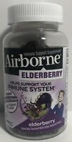 Elderberry + Vitamins & Zinc Crafted Blend Gummies, Airborne 60 ct. Exp 11/2021