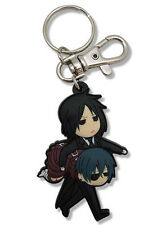 Black Butler Sebastian and Ciel SD PVC Key Chain Anime Manga Licensed MINT