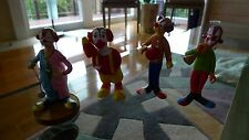 Clown Collection 4 Hand Painted Models Rare