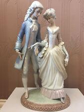 "Lladro 5004 WALK IN VERSAILLES Renaissance Courting Couple 15.75"" Gloss Figurine"
