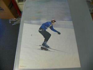 Olympic skier Olympic Skier Poster Prints 1969 24x36 Thick Stock Paper,   NOS