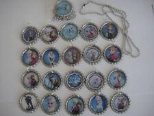10 Frozen Elsa Anna olaf necklaces party favor ball chain  flattend bottle cap