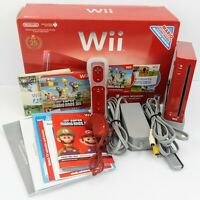 Nintendo Wii RVL-001 Red Console 25th Limited Edition Complete OEM w/Box Mario