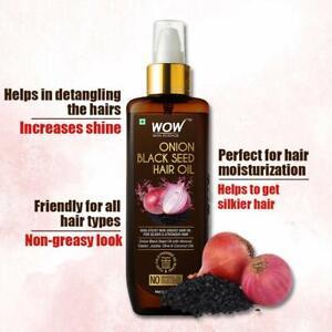 WOW Skin Science Onion Black Seed | Hair Oil | Controls Hair Fall | 200 ml