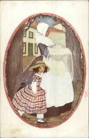 Rie Kramer DE BAKER Nursery Rhyme c1910 Postcard