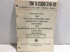 Tm 9-2300-216-10 Department of Army Manual. Operator's manual M107. M110. 1968