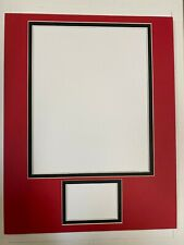 Picture Framing Mat 11x14 for 8x10 photo and sports card Red with black liner
