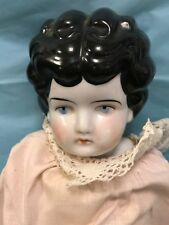"ANTIQUE CHINA HEAD DOLL ON LEATHER BODY---16""------------------------------rw"