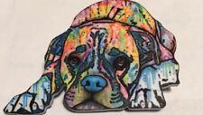 Multi Colored Acrylic Droopy Sad Animal Head Pug Dog Canine Brooch