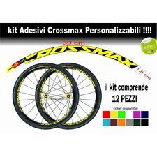 kit adesivi cerchi bici mtb mavic CROSSMAX 2014/2015 colore personalizzato antig
